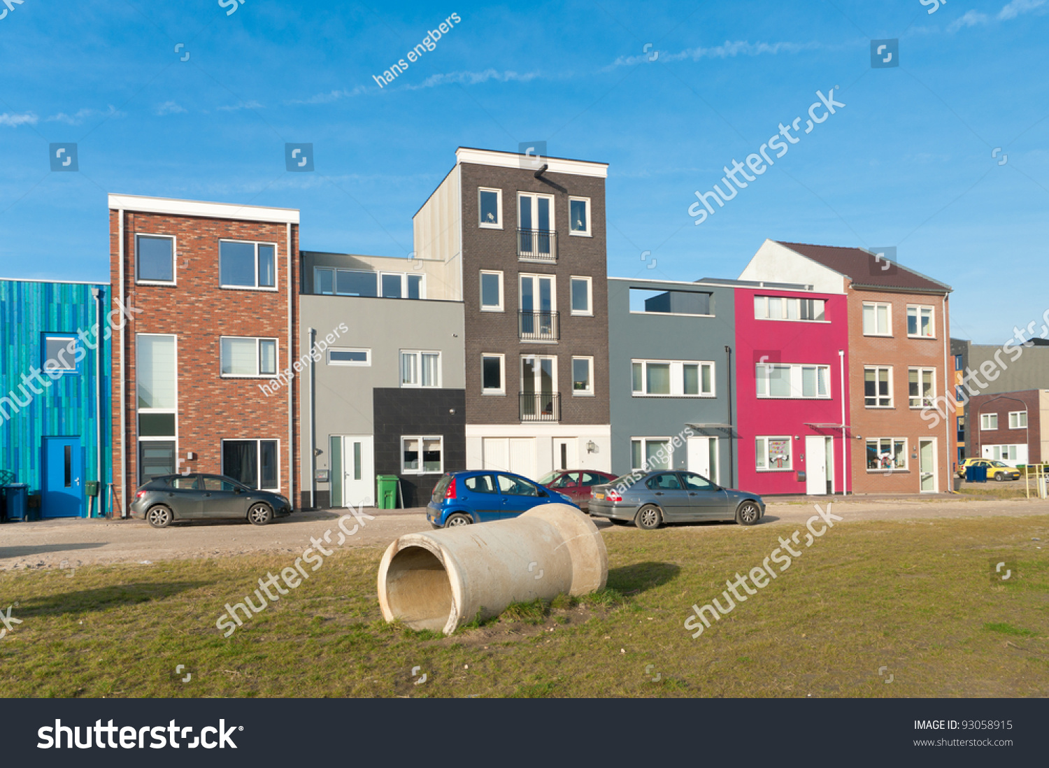 Modern Colorful Houses In Almere, Netherlands Stock Photo ... Colorful Almere