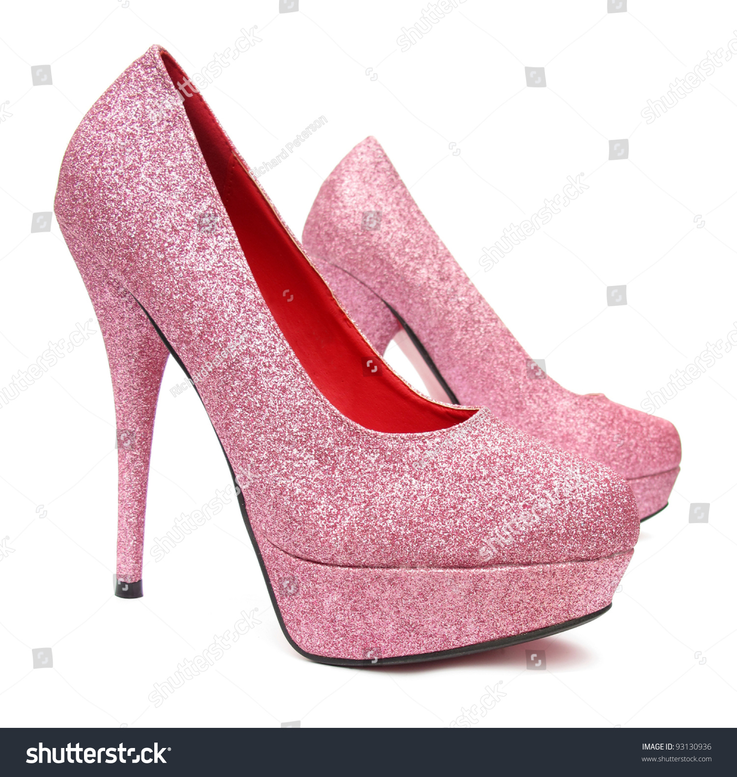 Pink High Heels Pump Shoes Stock Photo 93130936 - Shutterstock