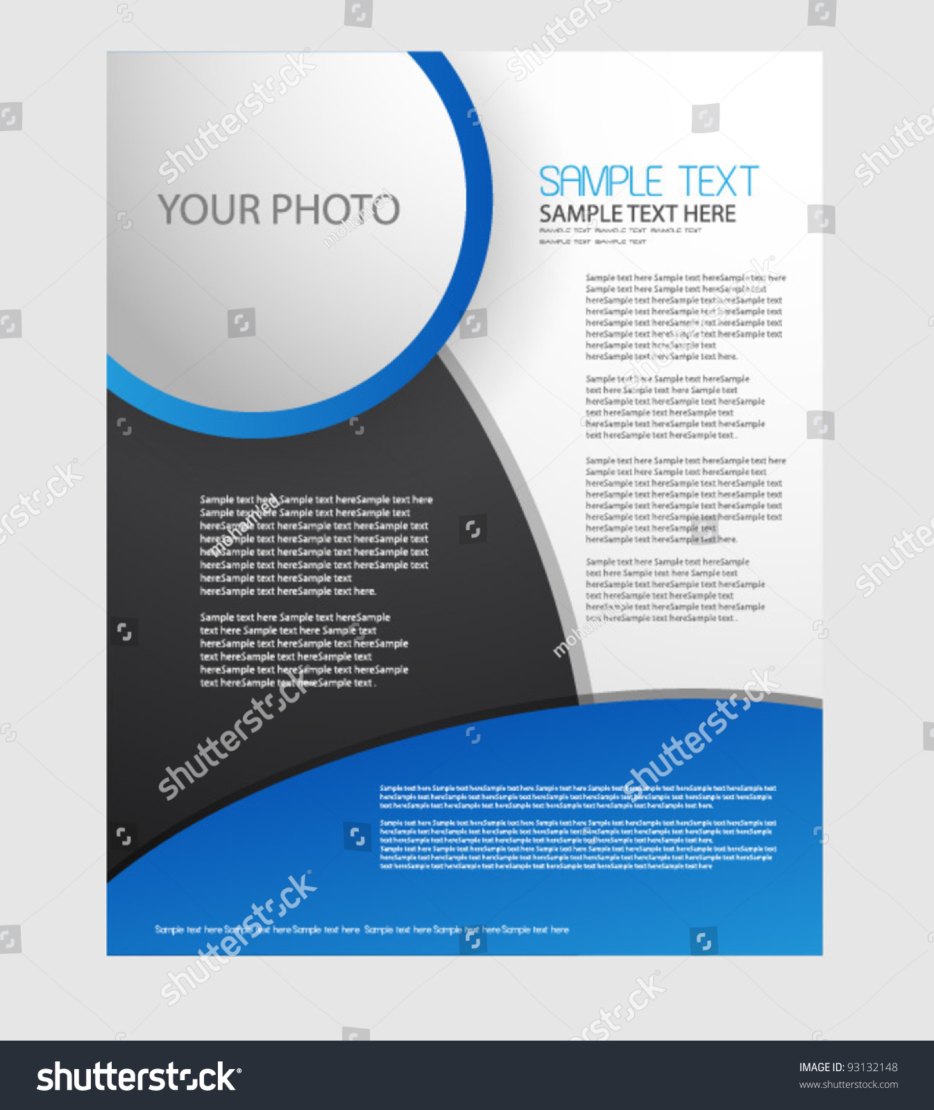 Business Brochure Design Vector Illustration 93132148 – Business Brochure Design