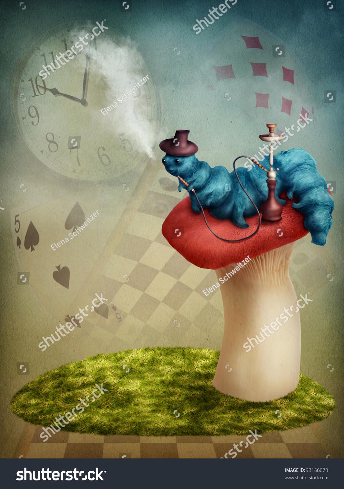 alice in wonderland caterpillar smoking wwwimgkidcom