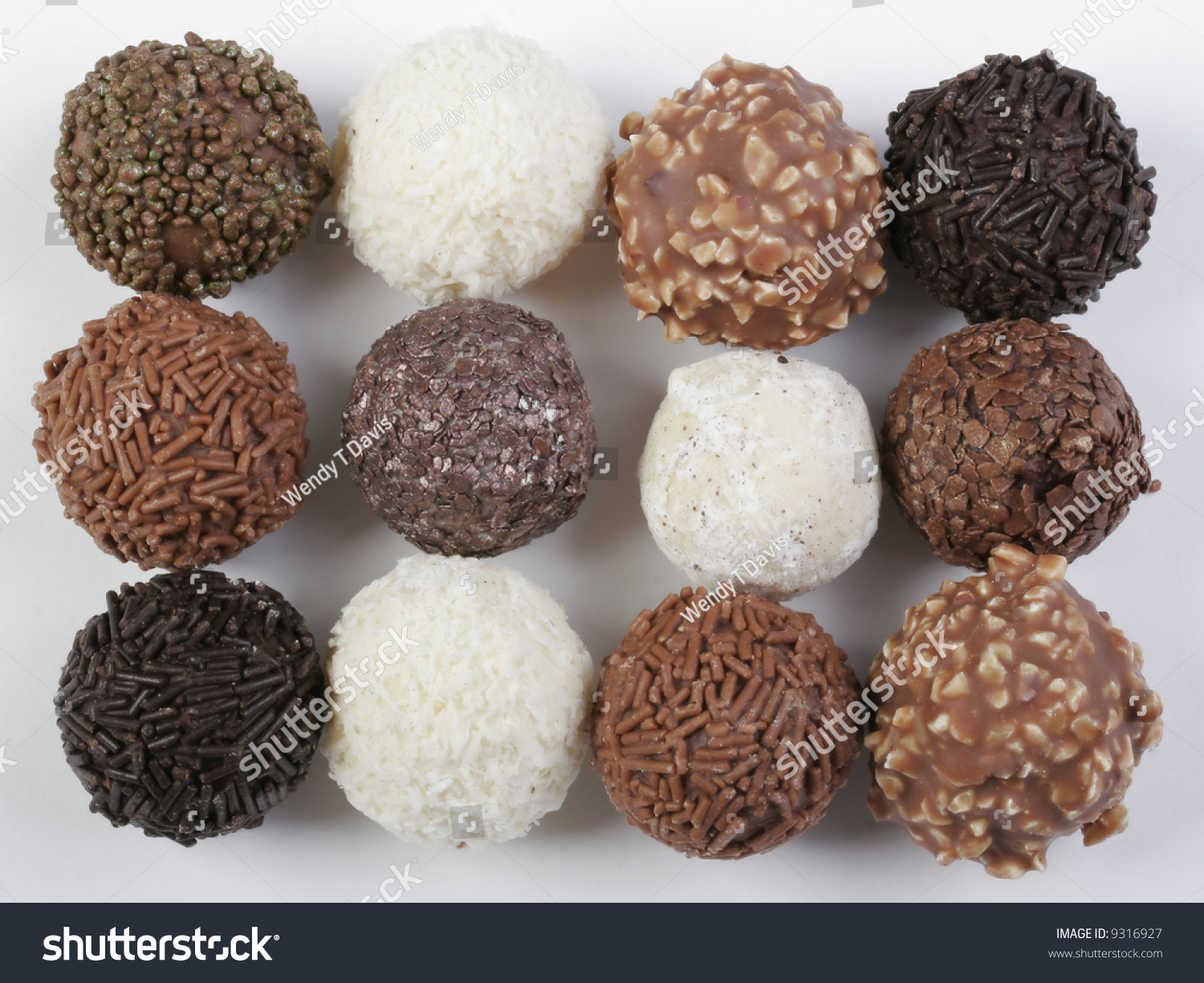 Various Types Chocolate Truffles Any Taste Stock Photo 9316927 ...