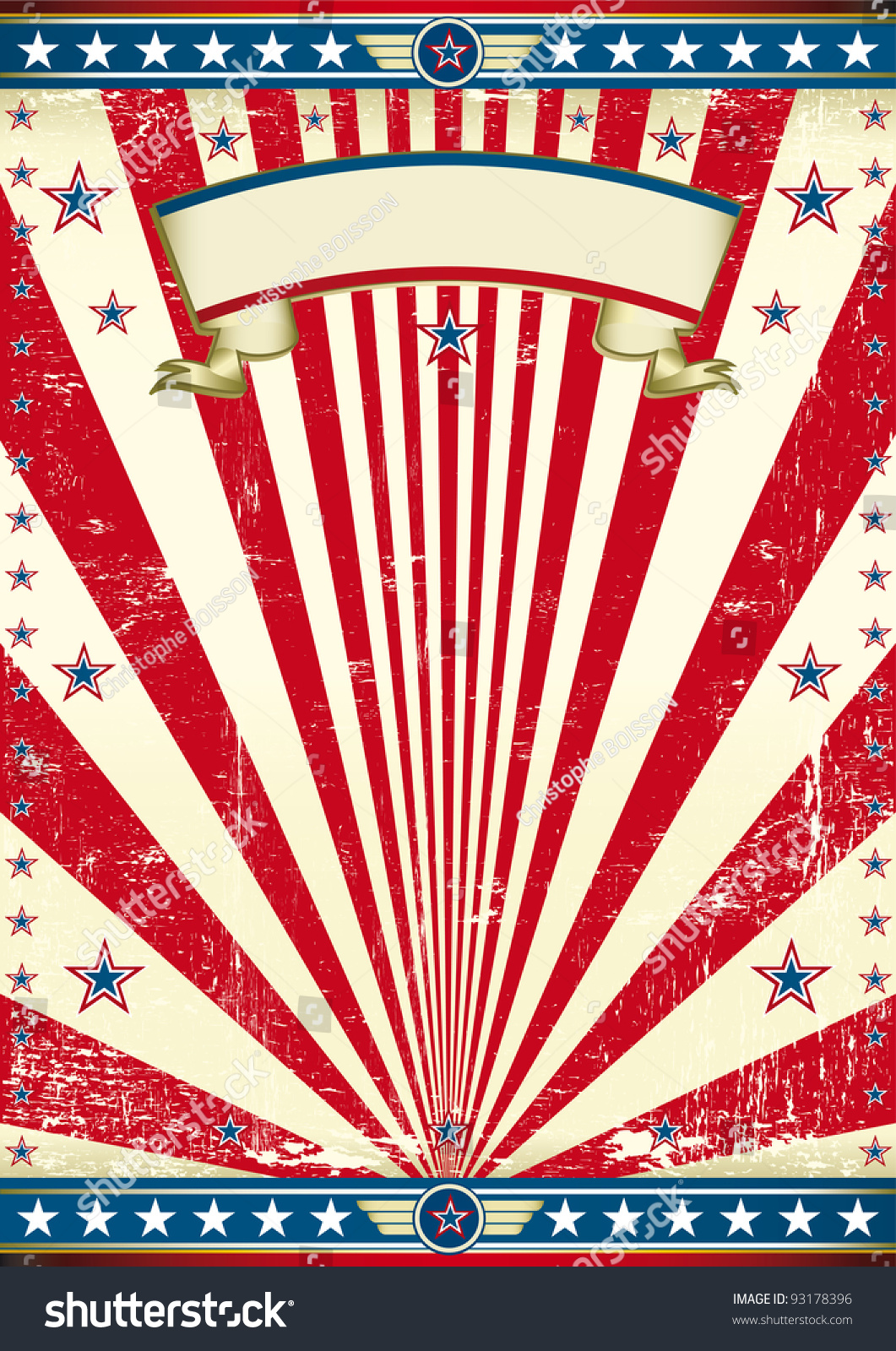 American Old Flag Background. An American Vintage Poster ...