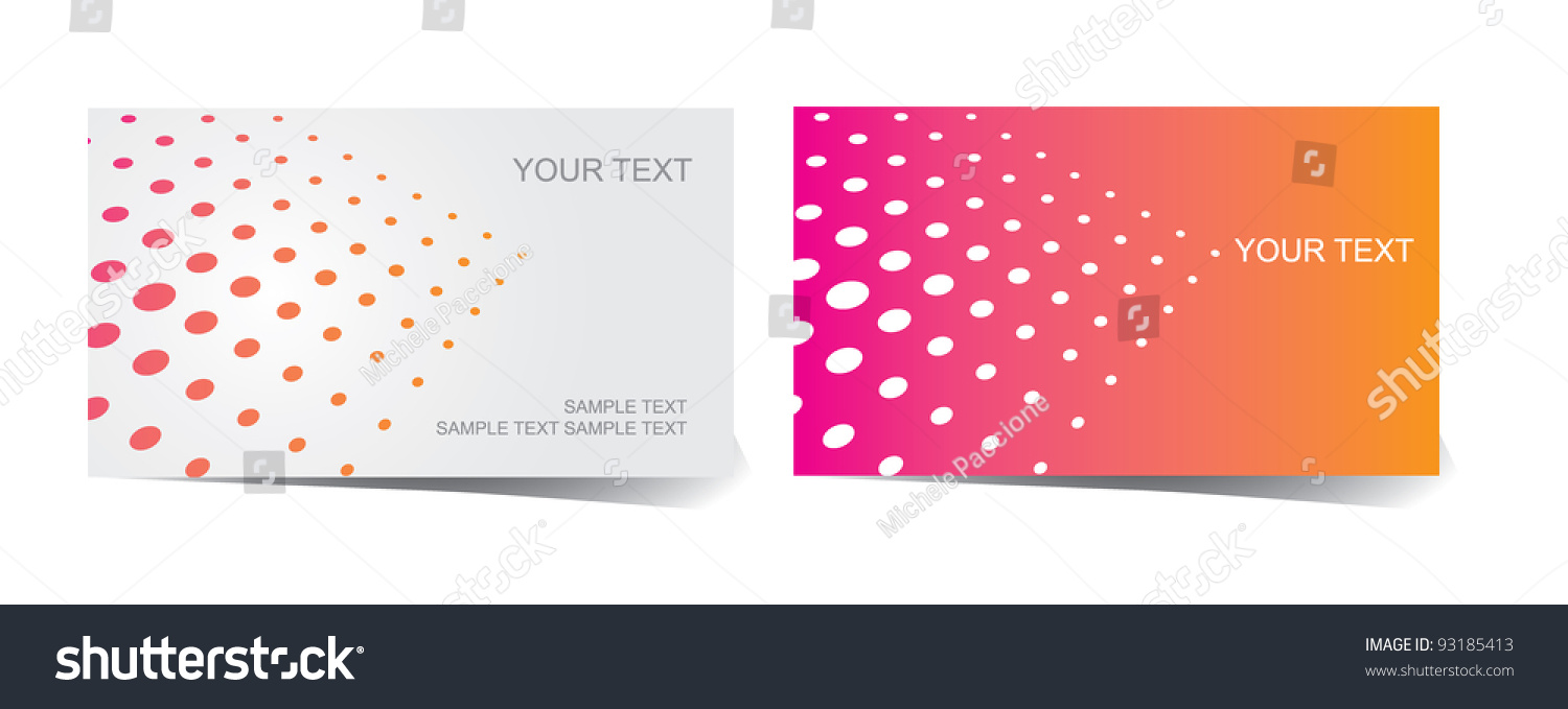 Abstract Dot Pattern Business Card Set Stock Vector 93185413 ...