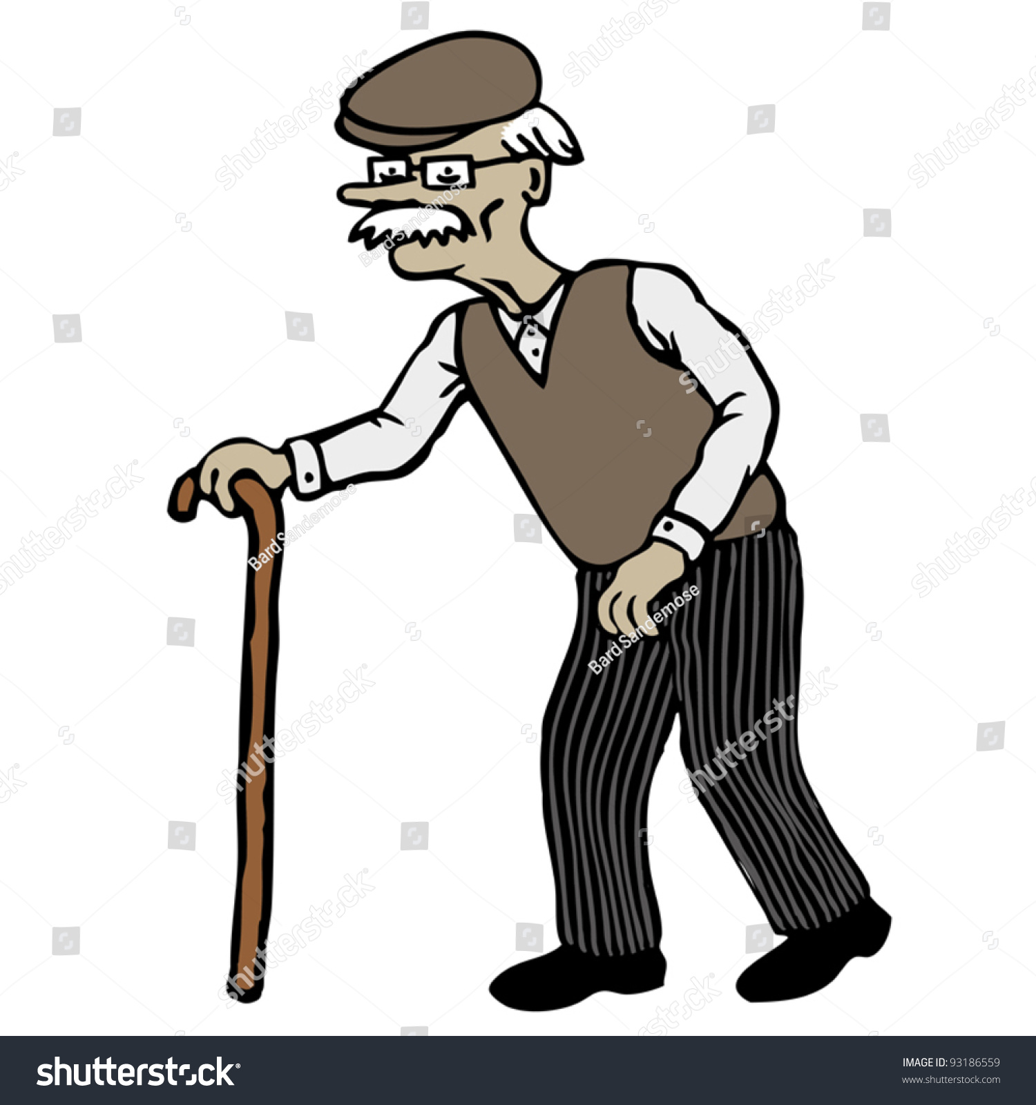 Cartoon Characters Old Man : Old man stock vector shutterstock