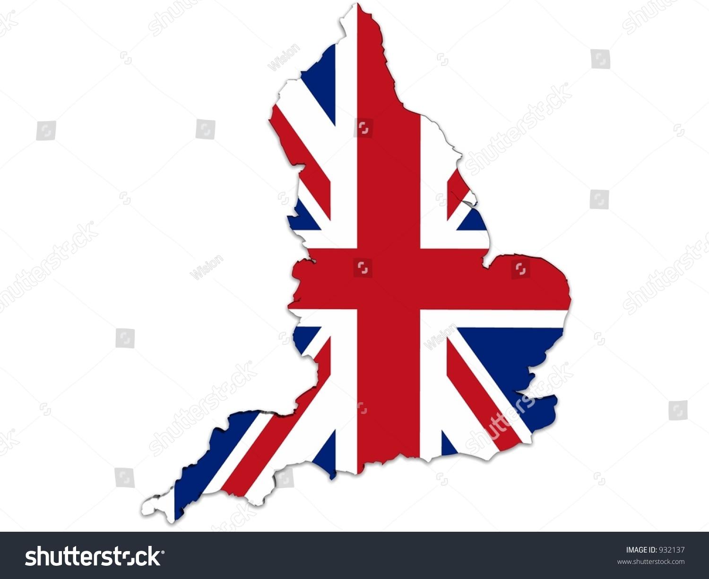 England Map UK Flag Stockillustration 932137 – Shutterstock