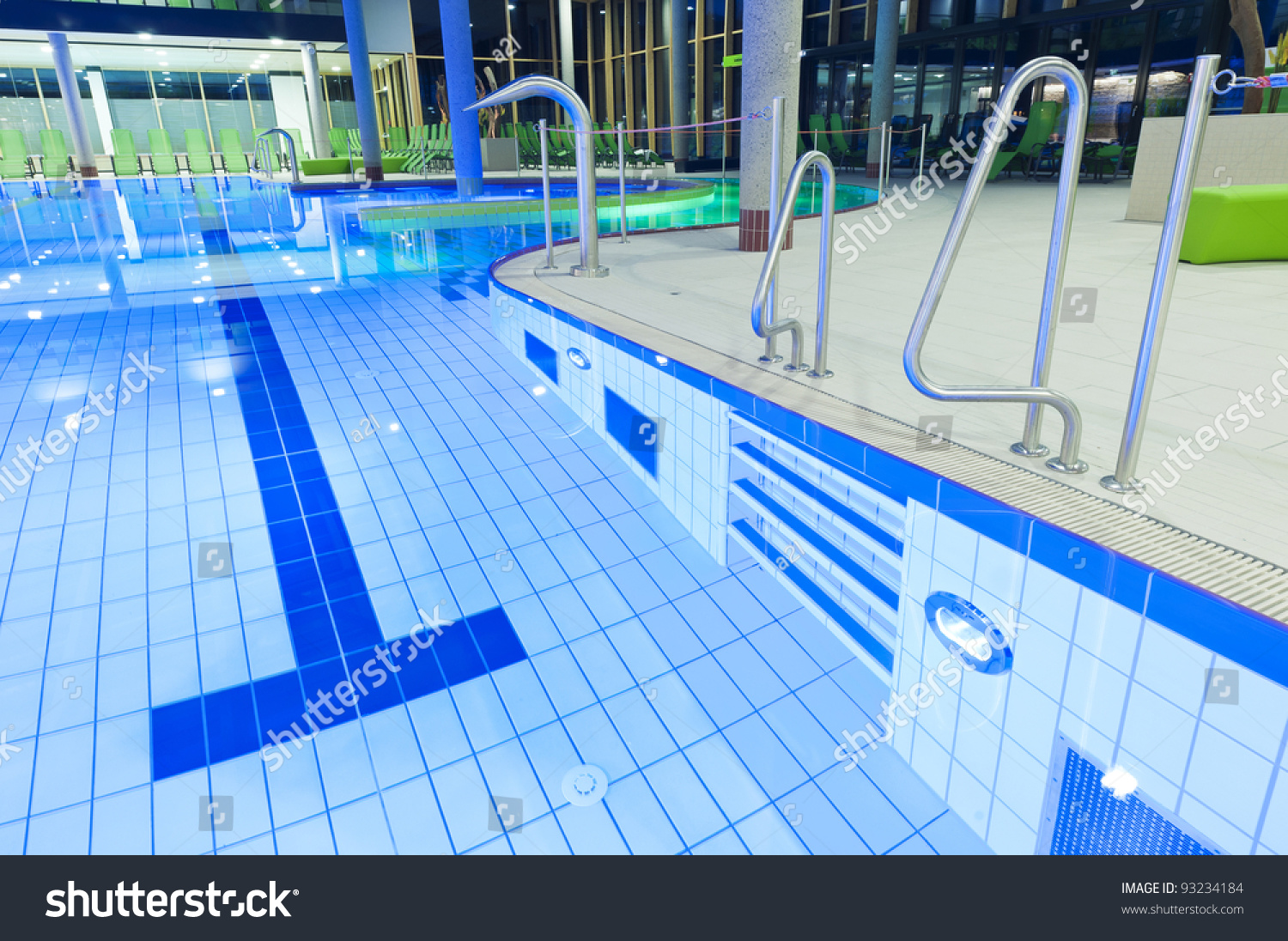 Tiles Swimming Pool Clear Water Lights Stock Photo 93234184 Shutterstock