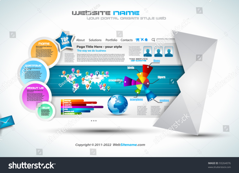 complex website template elegant design business stock vector