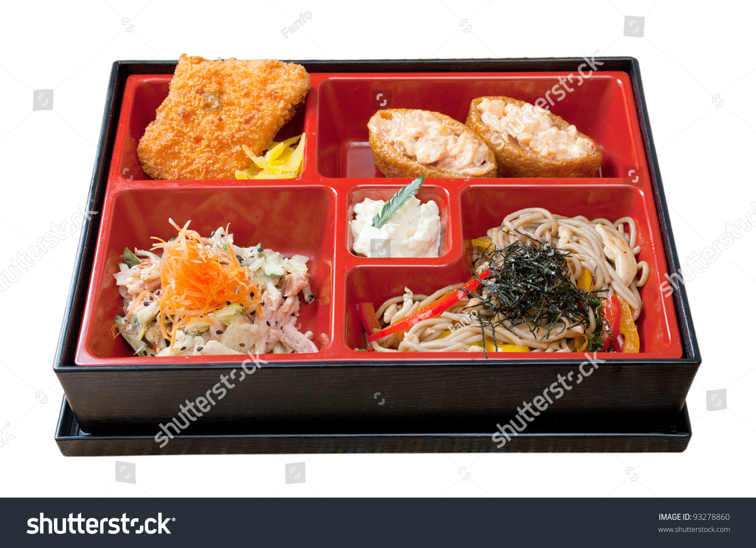 japanese bento lunch box of fast food stock photo 93278860 shutterstock. Black Bedroom Furniture Sets. Home Design Ideas