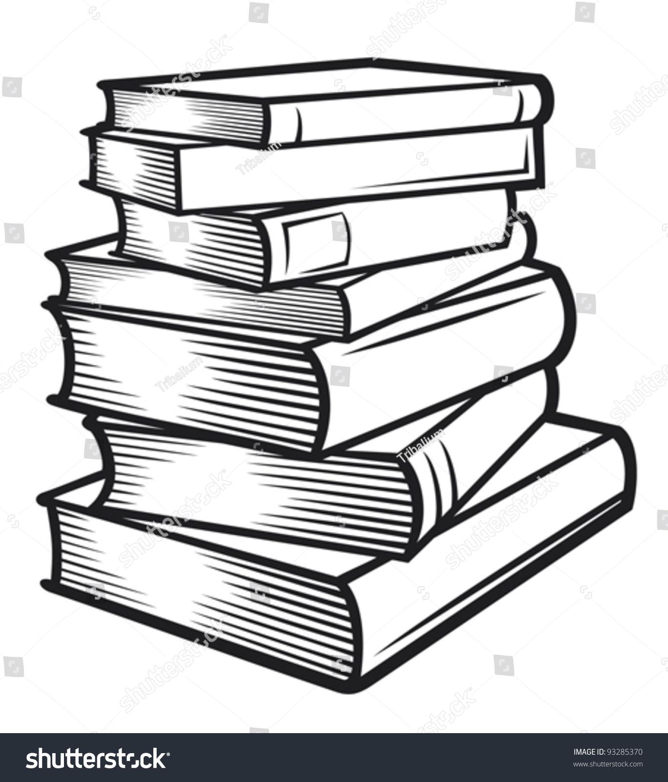 Stack of books stock vector 93285370 shutterstock