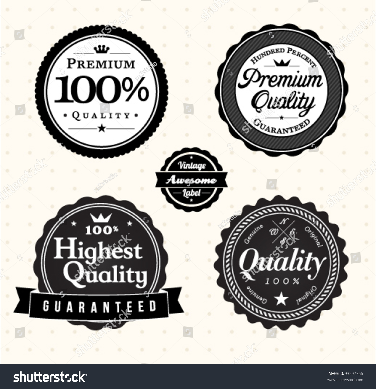 Quality Vintage Label Template Collection Stock Vector Royalty Free