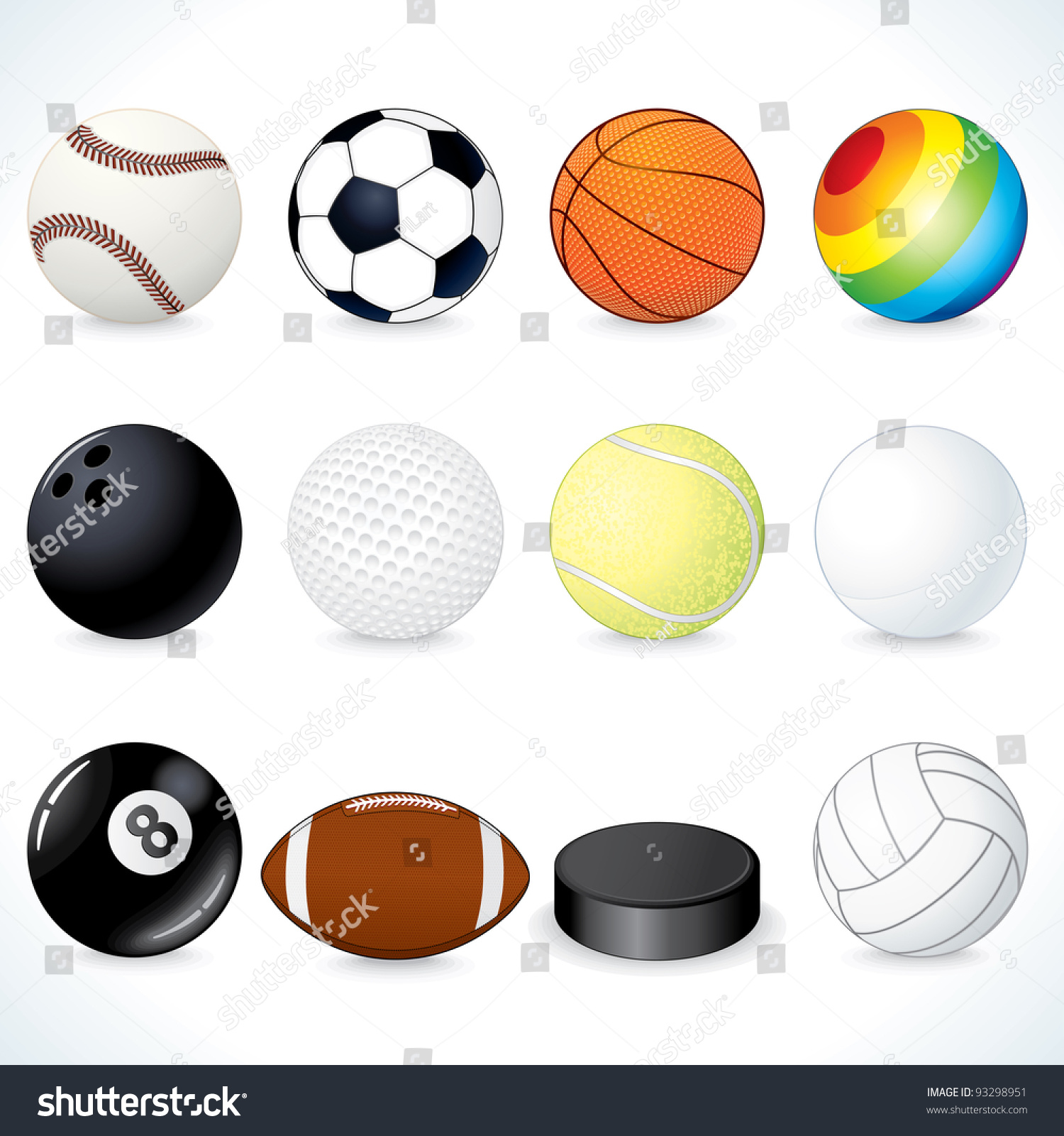 Vector Sport Clip Art Soccer Rugby Stock Vector 93298951 ...
