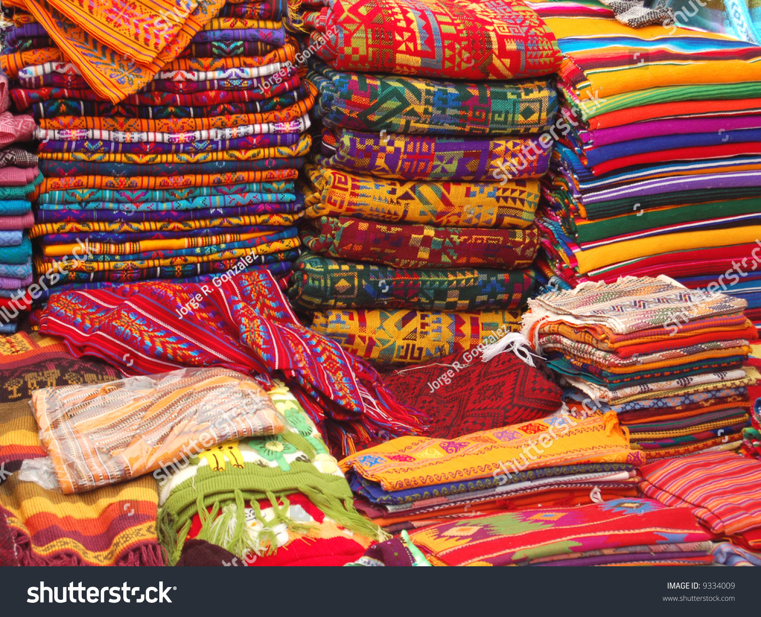 patterned textiles native american market showing stock photo edit
