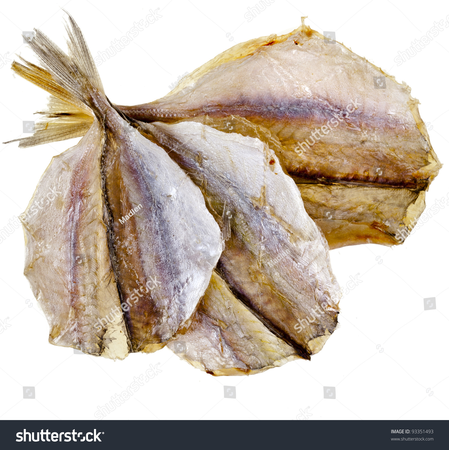 Dried Yellow Stripe Trevally Fish Isolated Stock Photo 93351493 ... for Dried Fish Clipart  113cpg