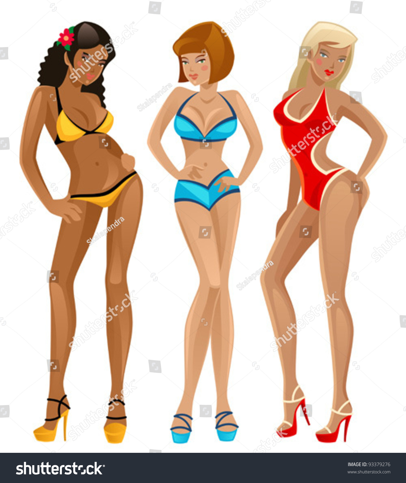 Cartoon bikini babes