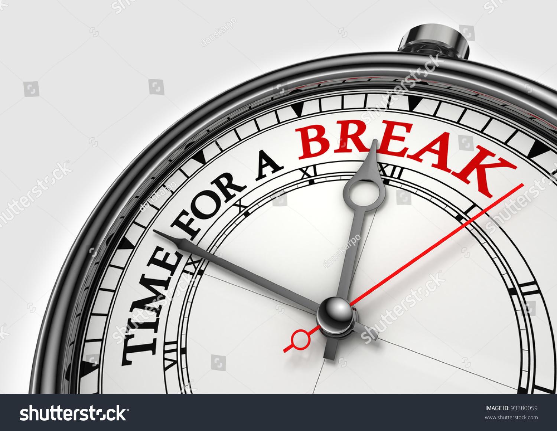 time fora break concept clock closeup stock illustration 93380059