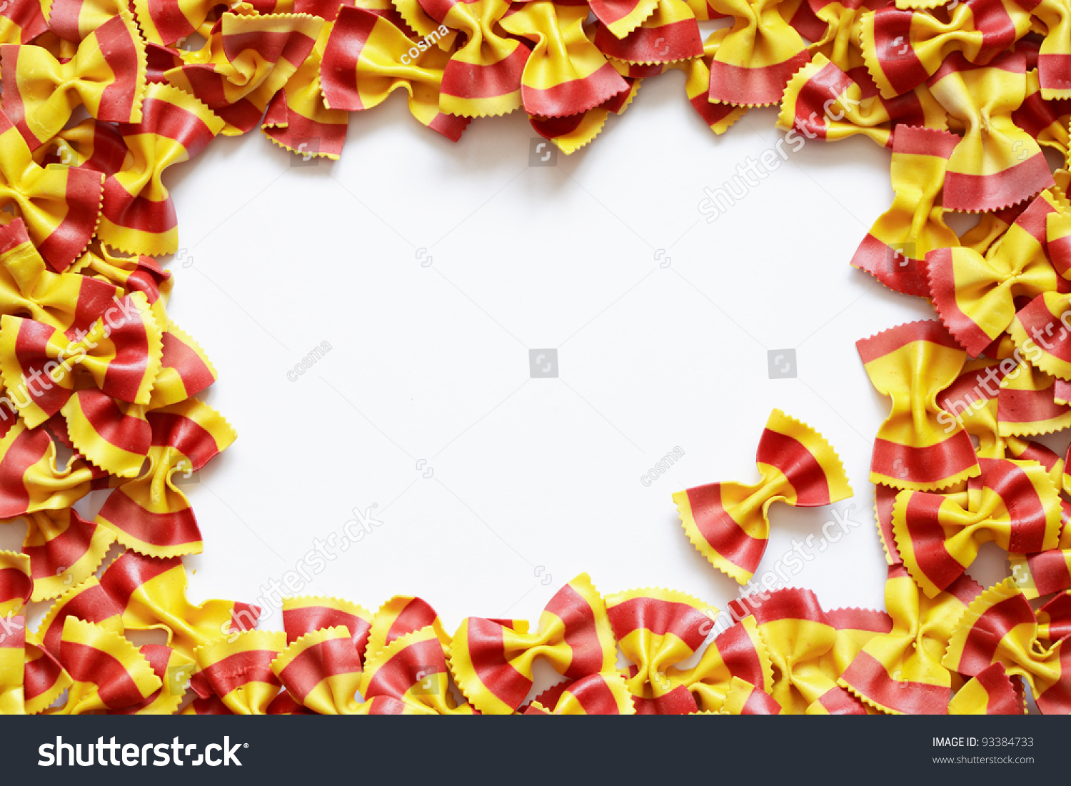 Border Made Italian Colorful Bow Tie Stock Photo 93384733 ...