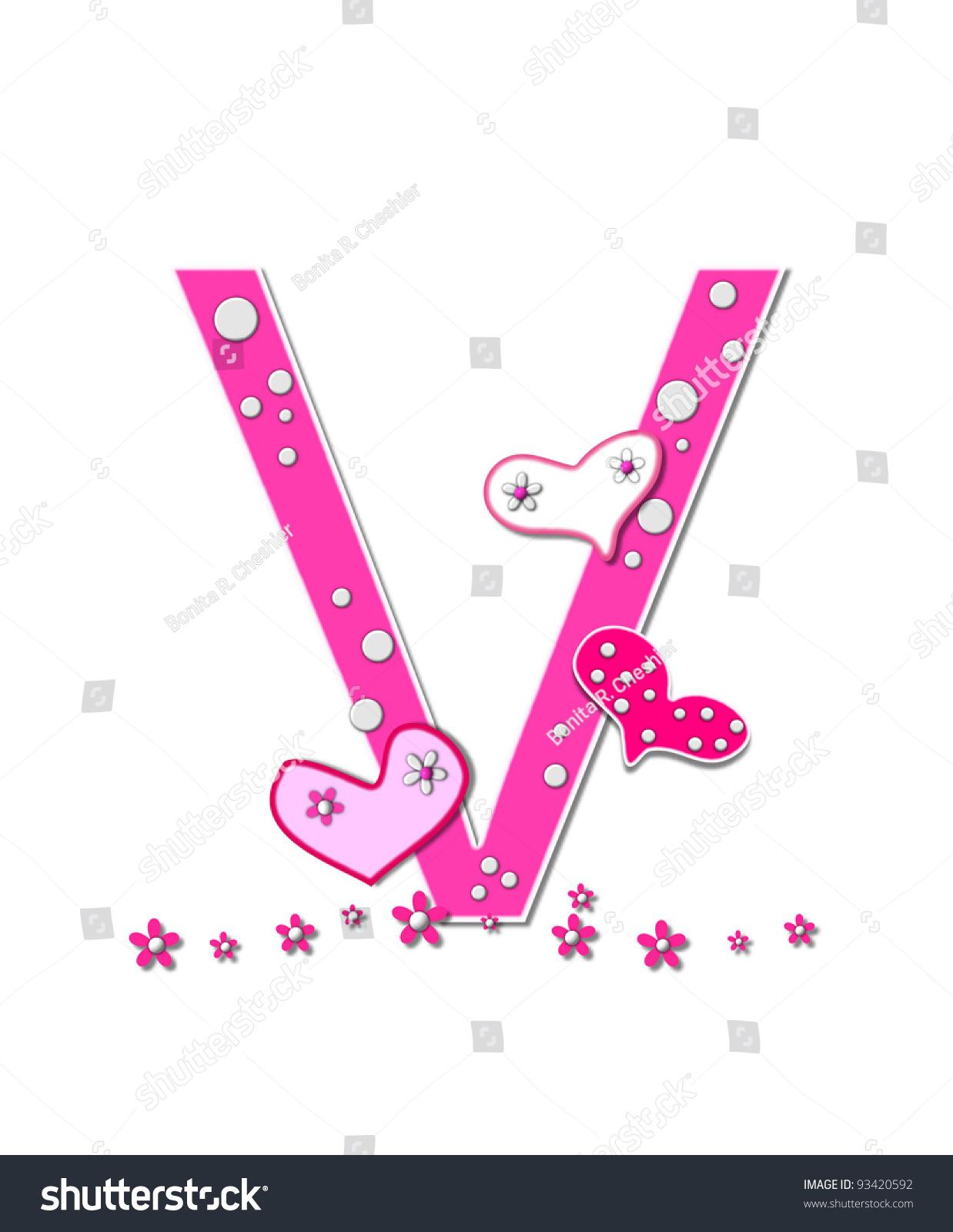 Letter U Alphabet Set Heart Full Stock Illustration - Royalty Free ...