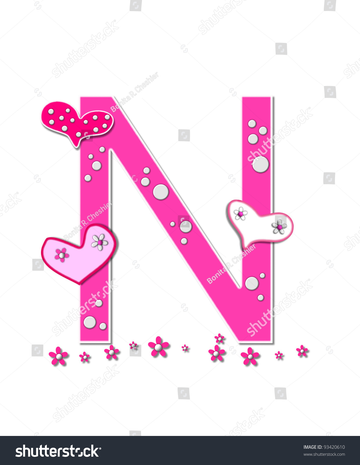 The Letter U, In The Alphabet Set Heart Full, Is Pink ... |The Letter U In Pink