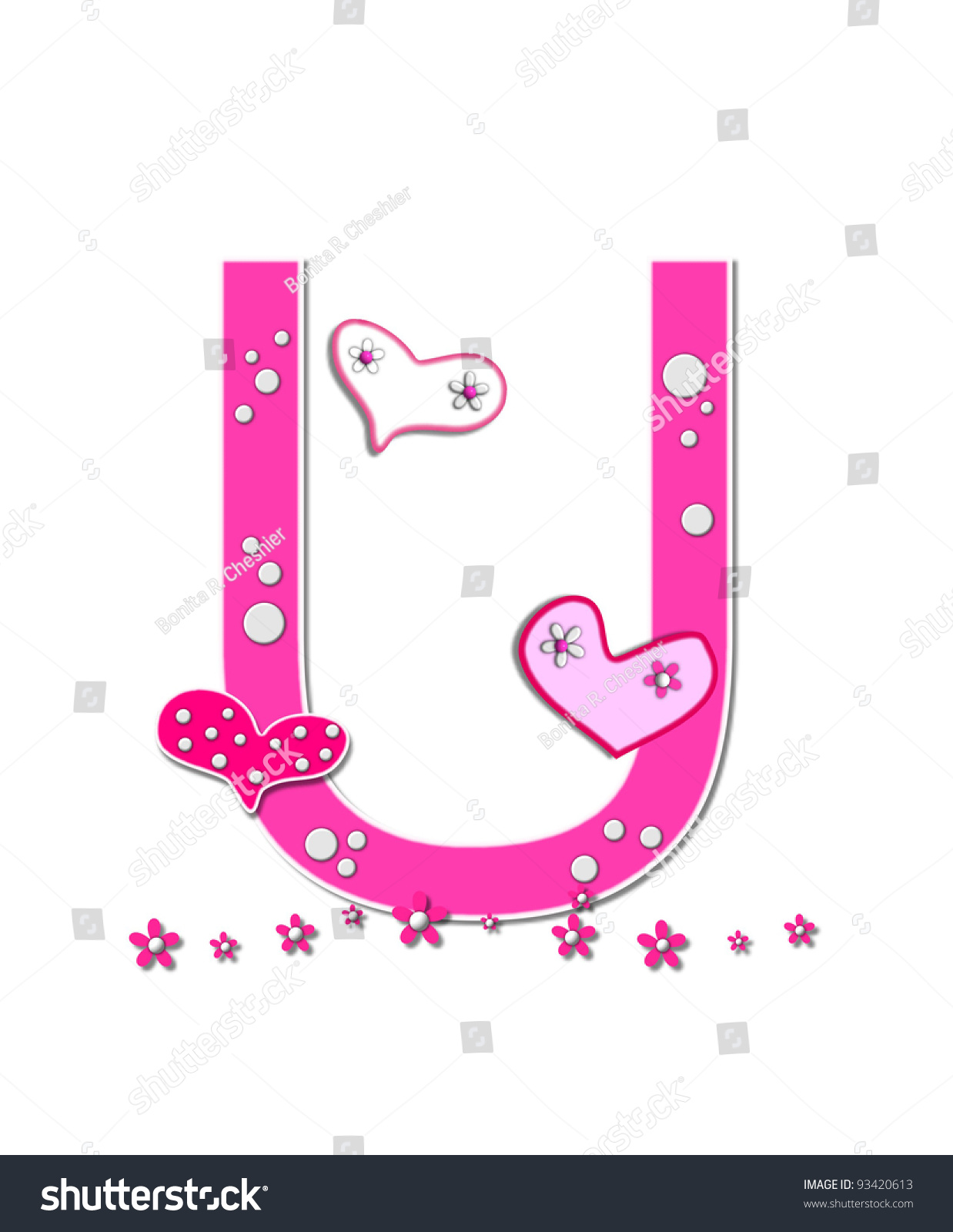 Pink Letter U Air-Inflated Balloon | Card Factory |The Letter U In Pink