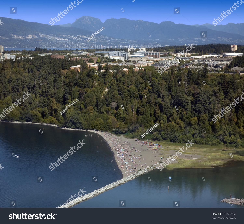 Vancouver Bc Beaches: Wreck Beach Bc Ubc Area Vancouver Stock Photo 93429982
