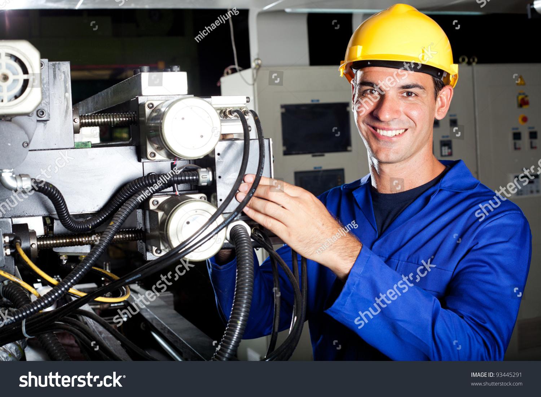 Modern Industrial Machine Operator At Work Photo 93445291 – Machine Mechanic