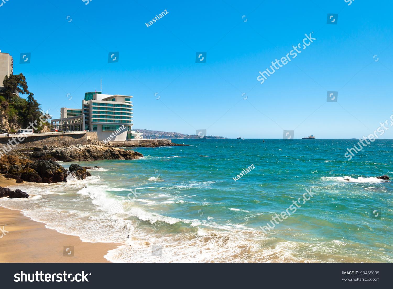 luxurious hotel on the coast in vi a del mar chile stock