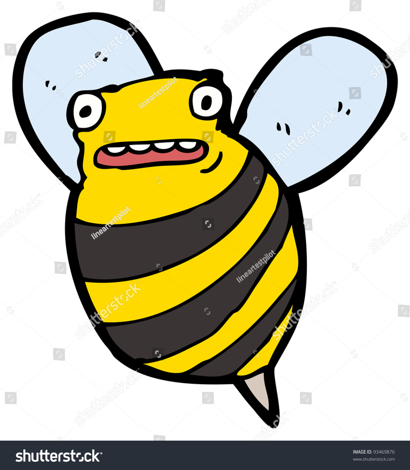 It's just a picture of Agile Funny Bee Picture