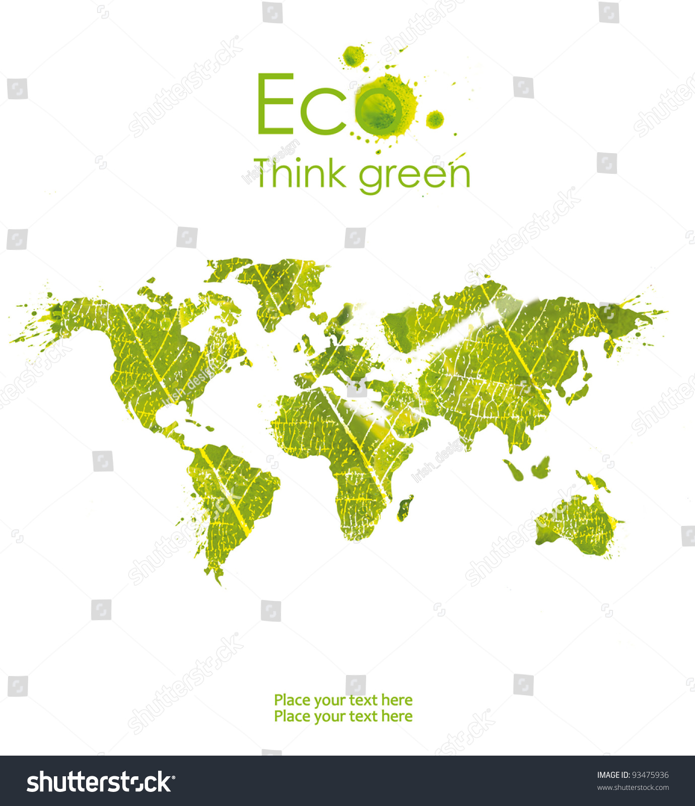ecological map symbolizes the protection of the environment isolated onwhite background think green. ecological map symbolizes protection environment isolated stock