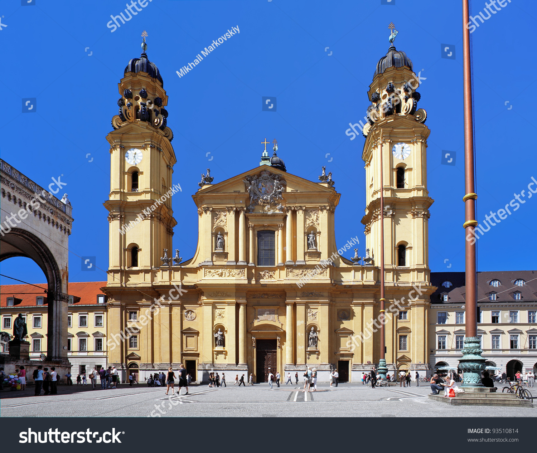 Theatine Church St Cajetan Munich Bavaria Stock Photo