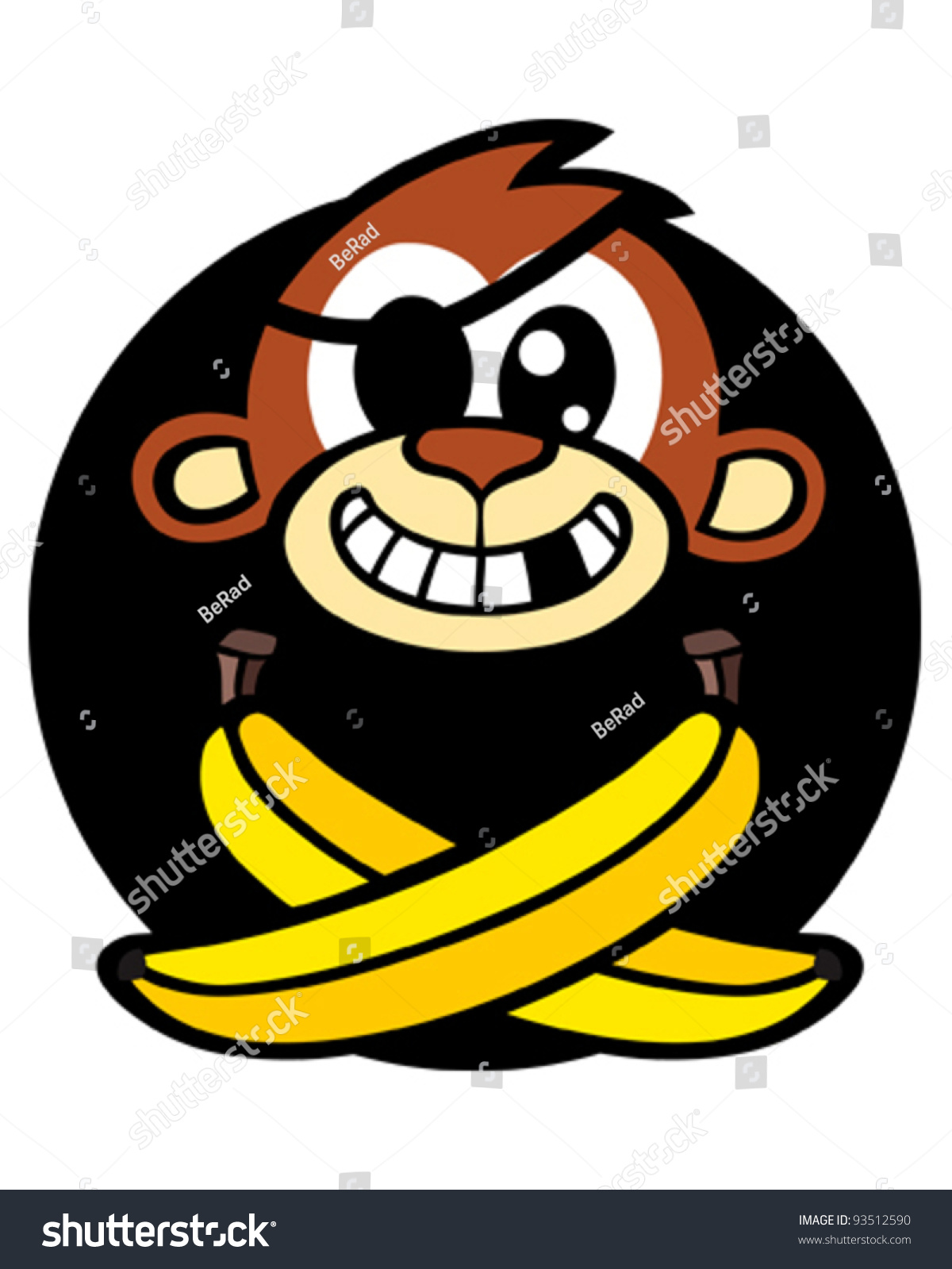 Cartoon Angry Pirate Monkey Clipart Image