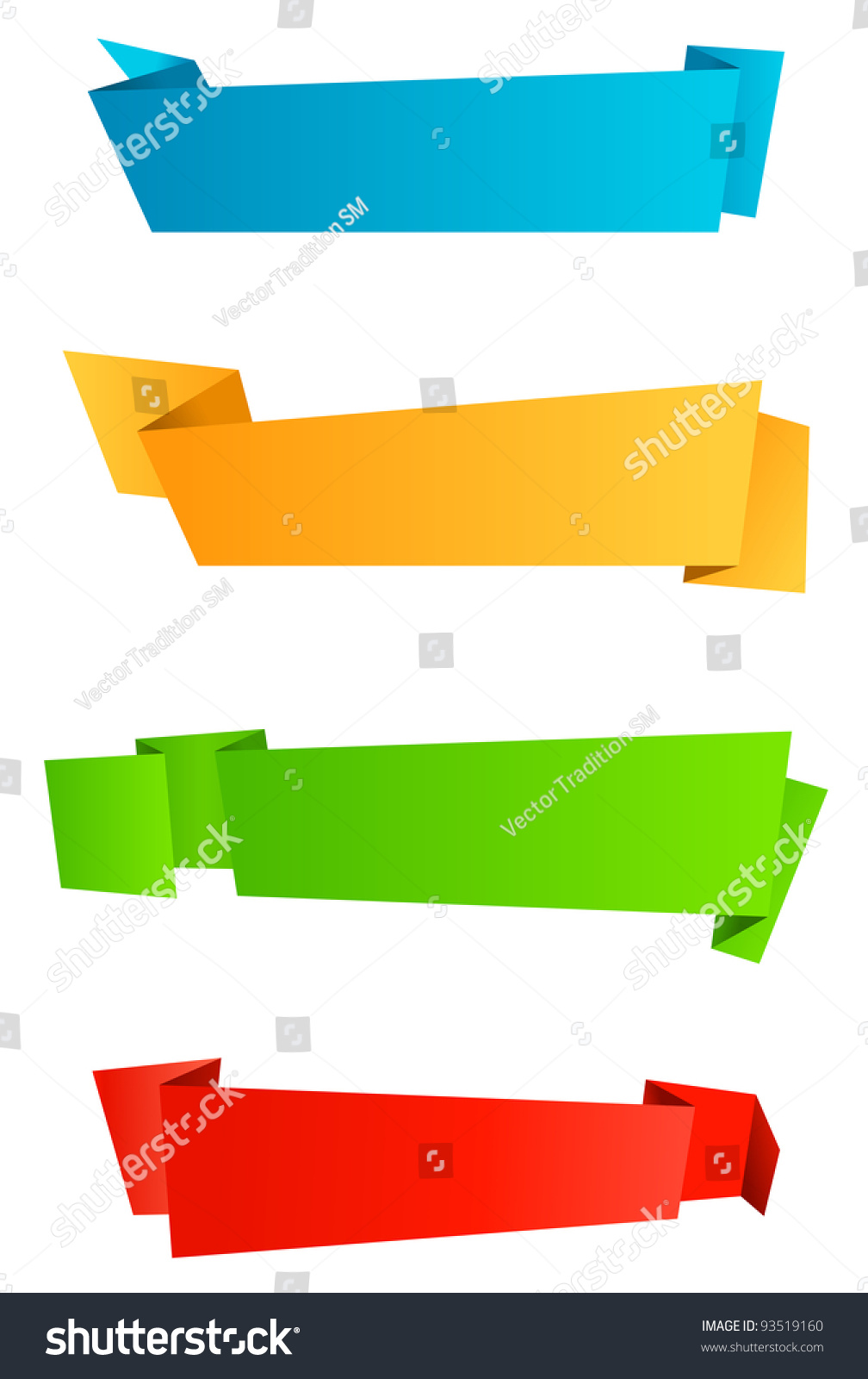 Royalty Free Stock Illustration Of Abstract Template Banners Origami