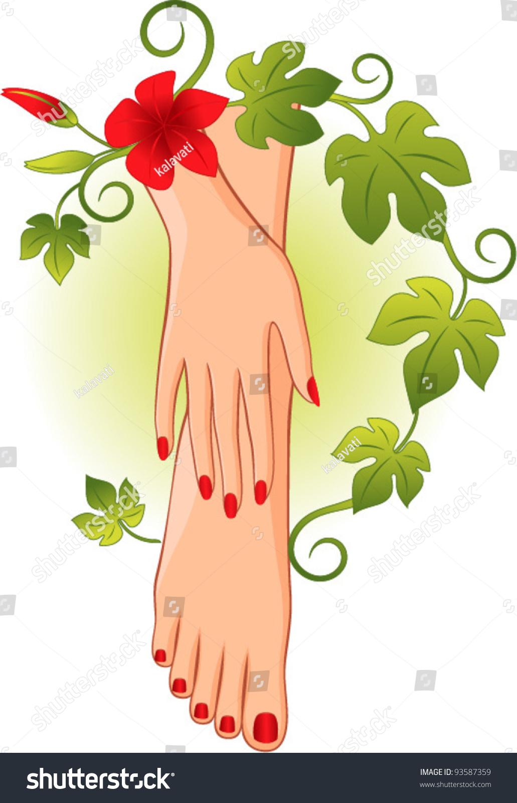 Manicure Pedicure, Logo Design Stock Vector 93587359 : Shutterstock