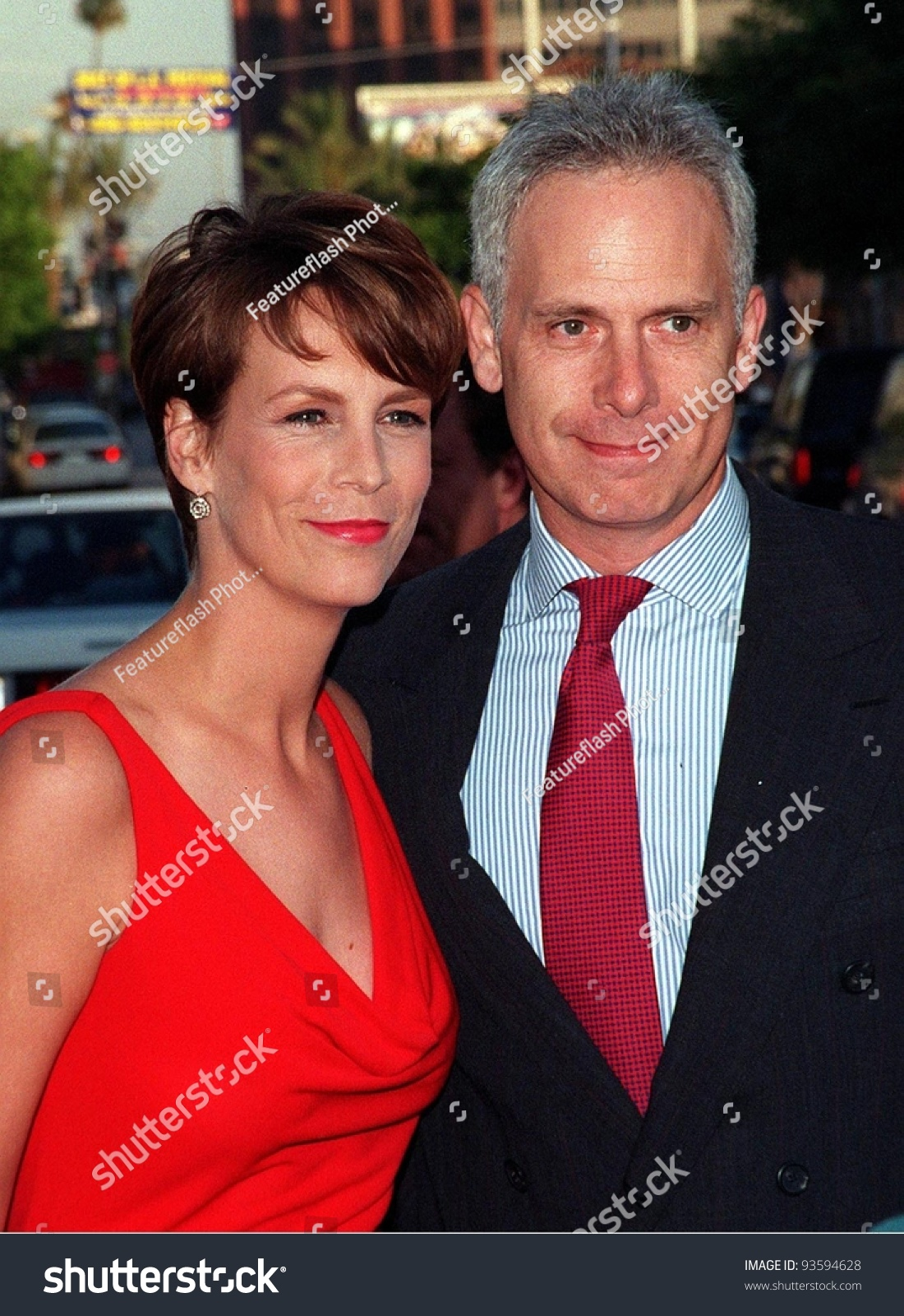 27jul98 Actress Jamie Lee Curtis Husband Stock Photo