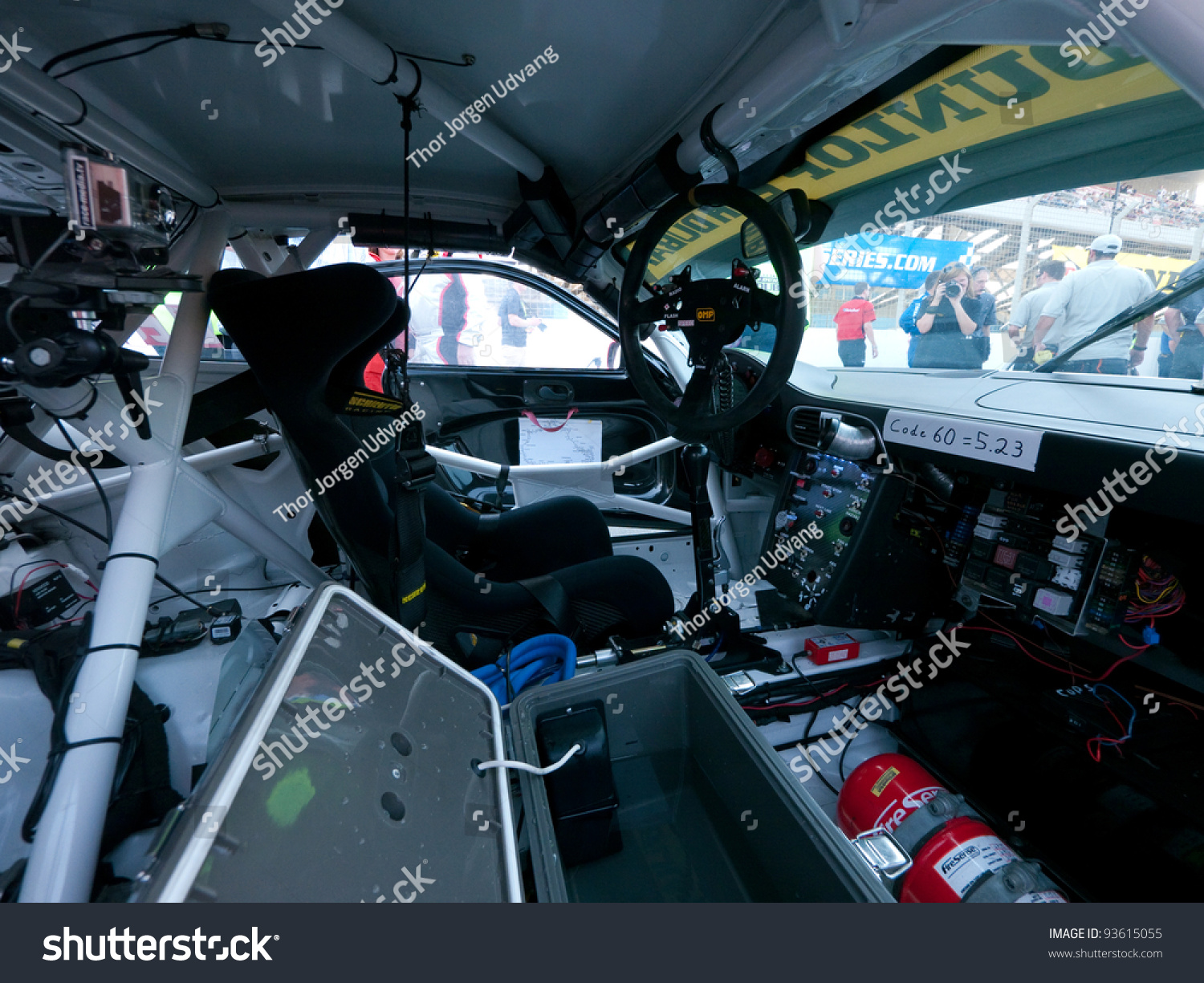Dubai January 13 Interior Race Car Stock Photo Edit Now 93615055
