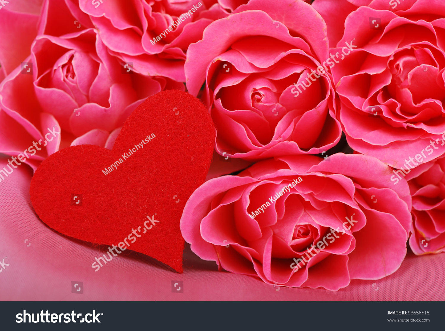 red symbol heart lovely roses valentines stock photo (edit now