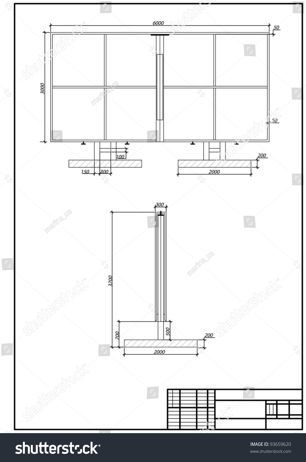 Architectural Drawing Borders architectural drawing billboard autocad vector stock vector