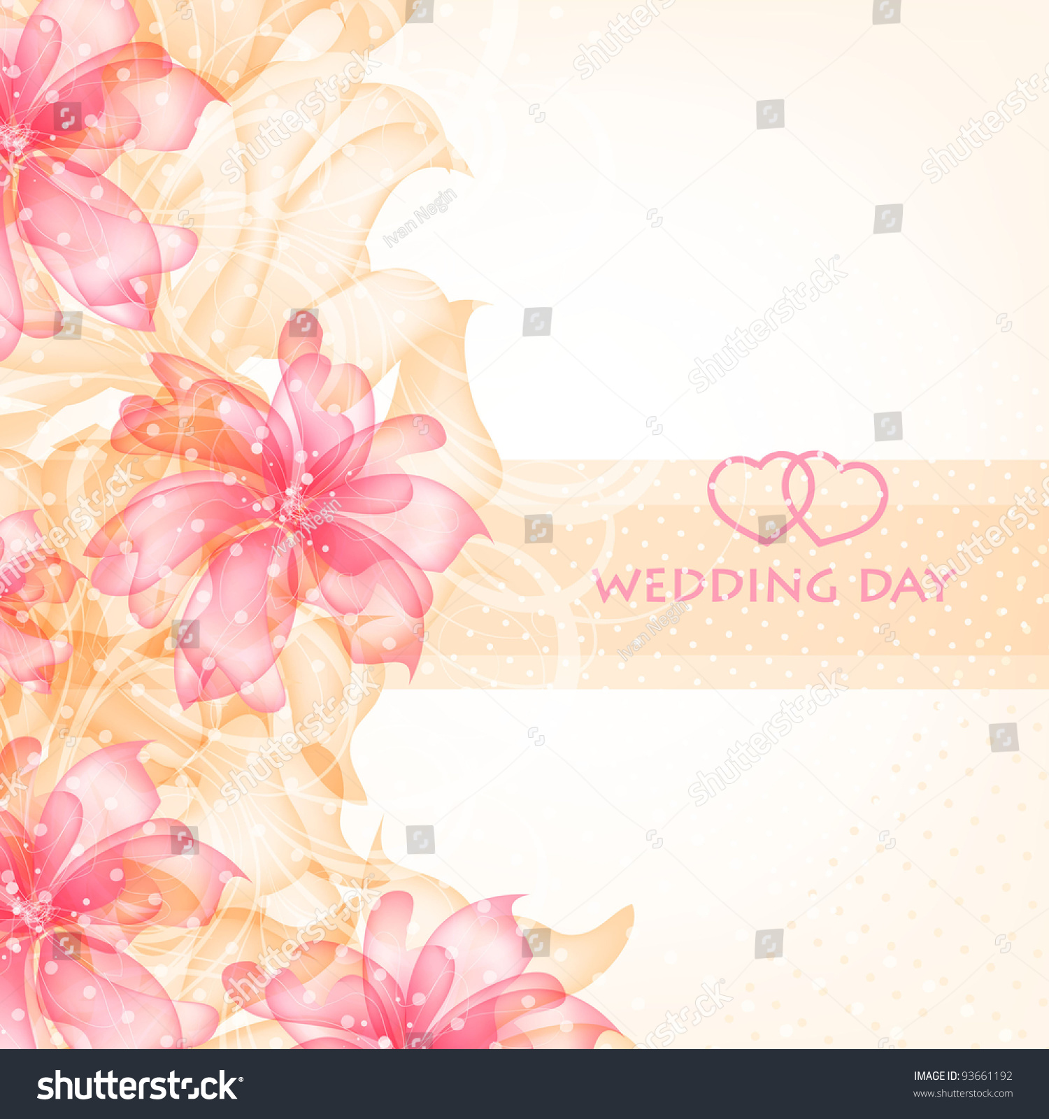 Wedding Card Invitation Abstract Floral Background Stock Vector 93661192 - Shutterstock