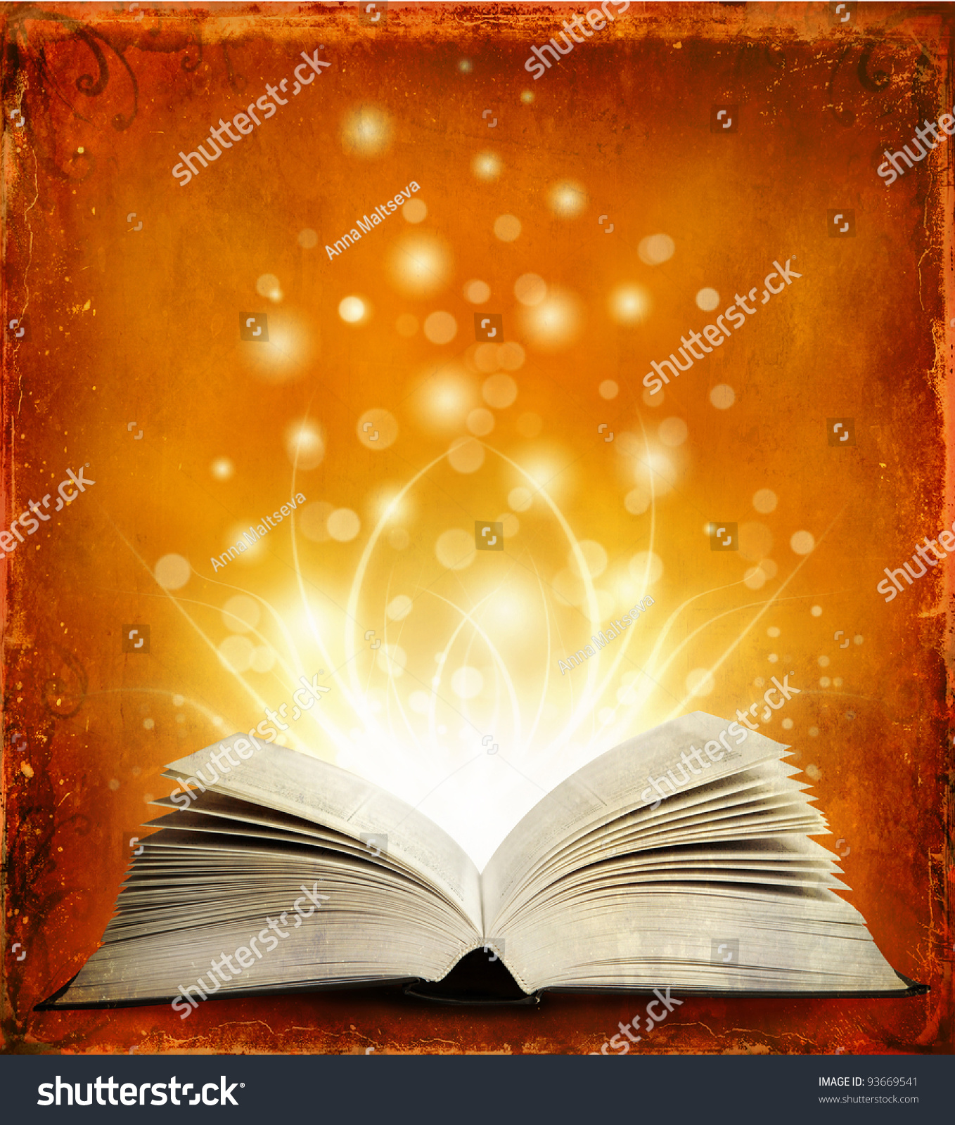 book opened magic book magic light stock photo shutterstock