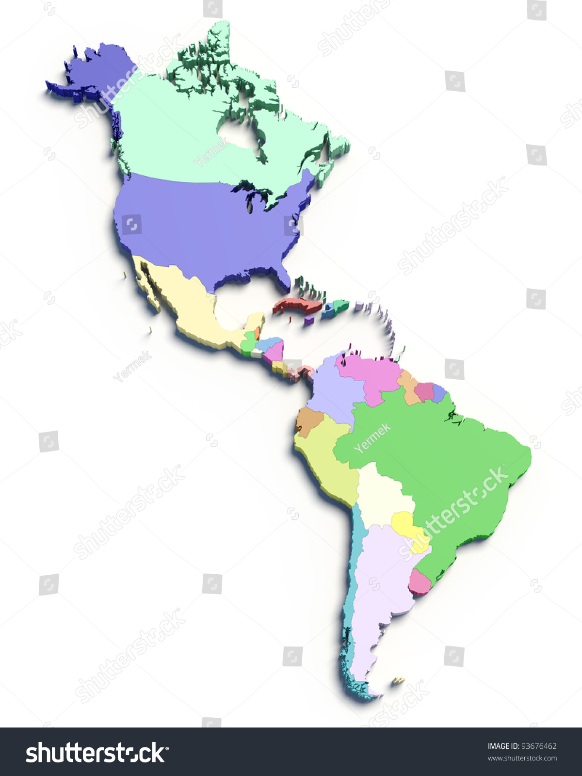 Map Of North America Countries project management document