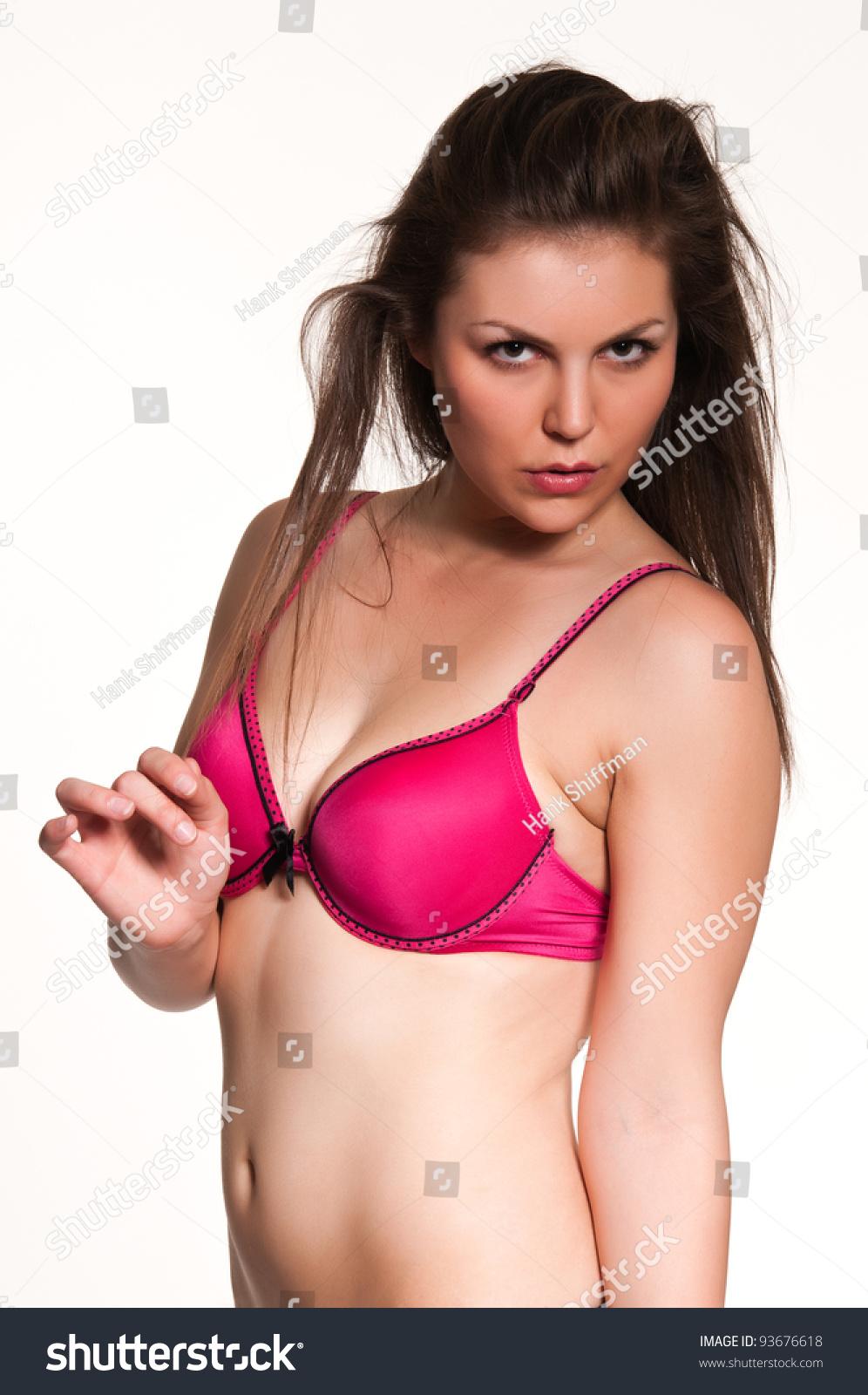 Frangipani spa flowers stock photo image 14654190 - Pretty Young Brunette Dressed Bright Pink Stock Photo