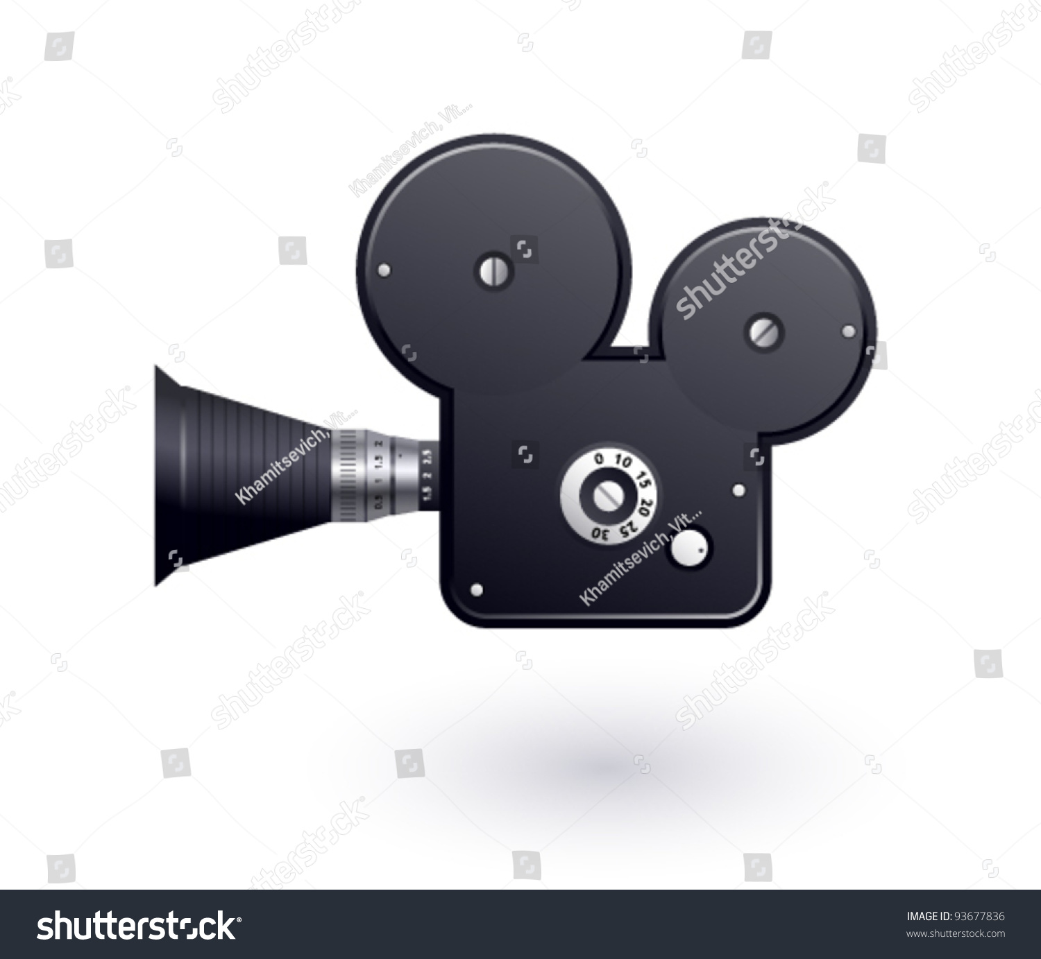 Video Camera Icon On White Background Stock Vector ...