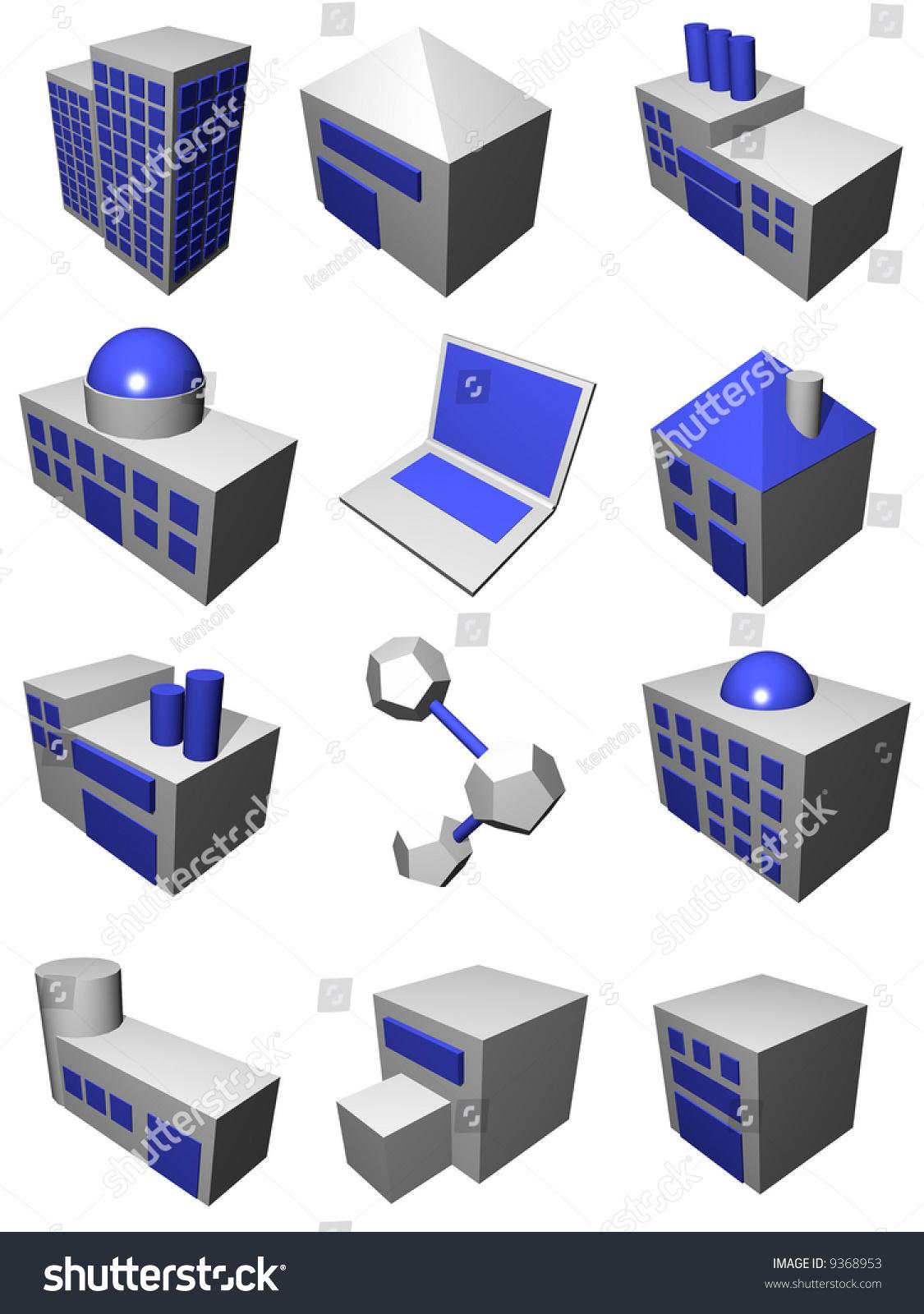 Supply Chain Logistics Diagram Symbol Set Stock Illustration 9368953