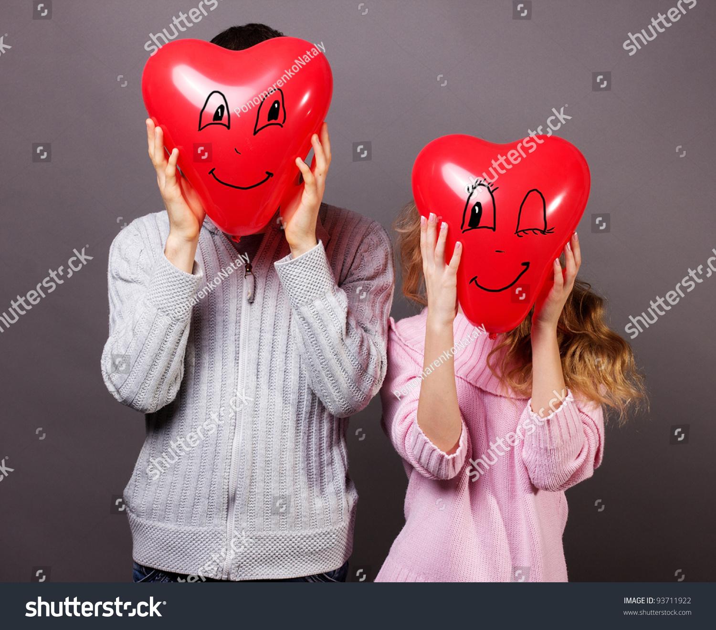Young Romantic Valentine'S Couple Stock Photo 93711922