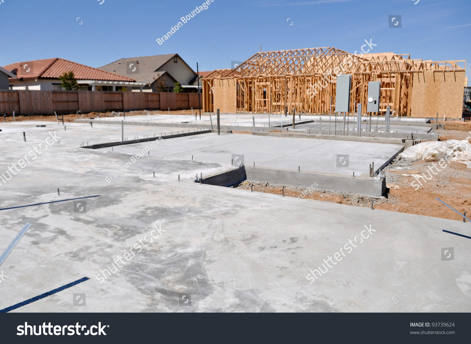 New home foundation stock photo 93739624 shutterstock for New home foundation