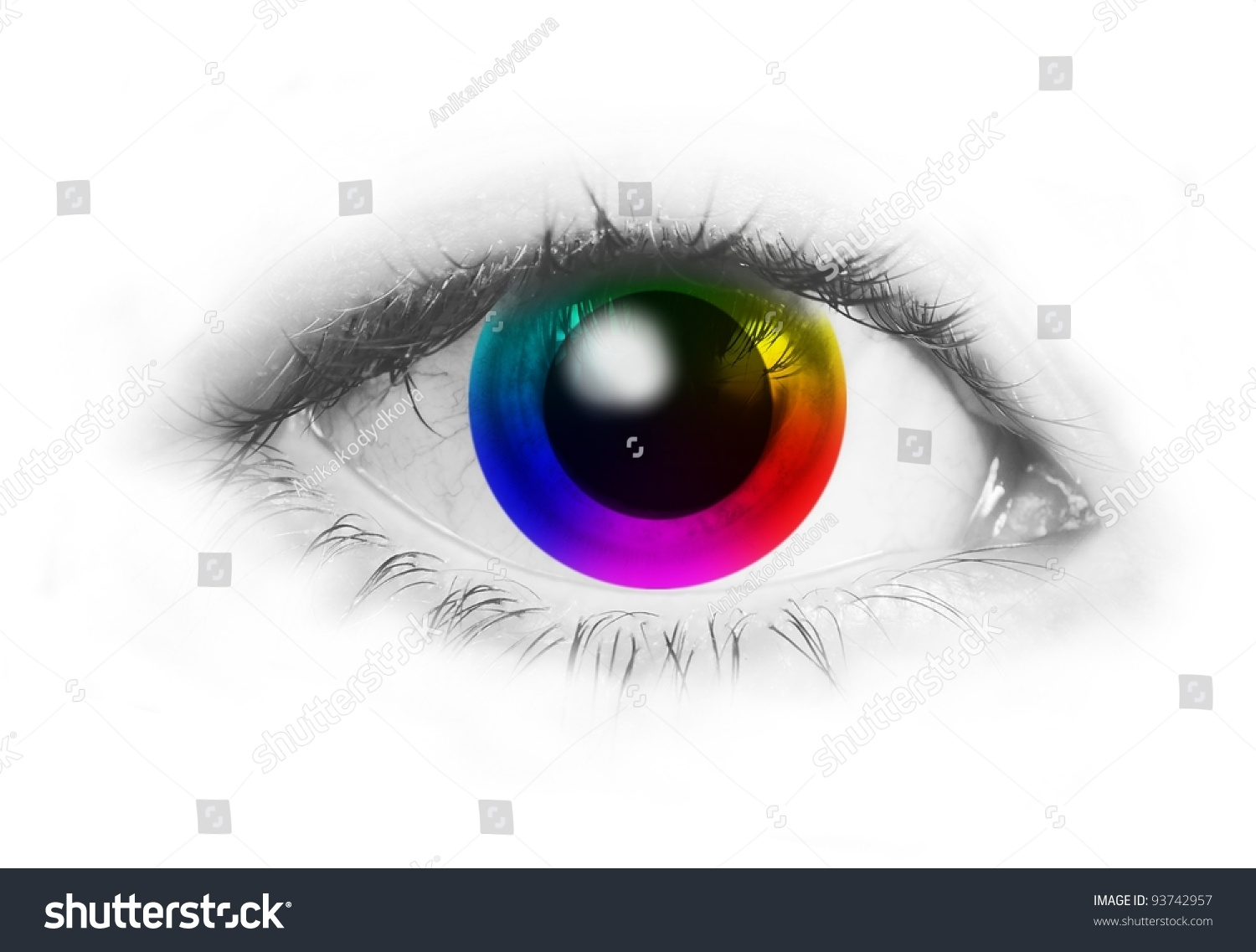 Abstract Human Eye Color Wheel Instead Stock Illustration 93742957