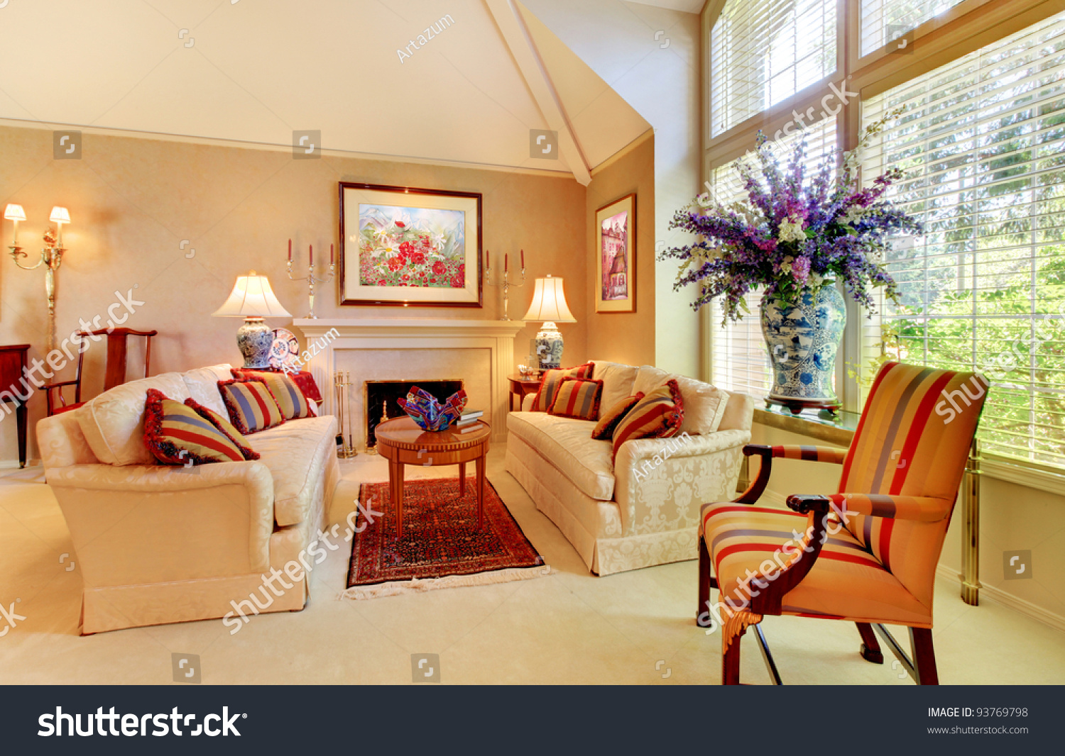 Beautiful home interior living room luxury design  Preview  Save to a  lightbox. Beautiful Home Interior Living Room Luxury Design  Stock Photo
