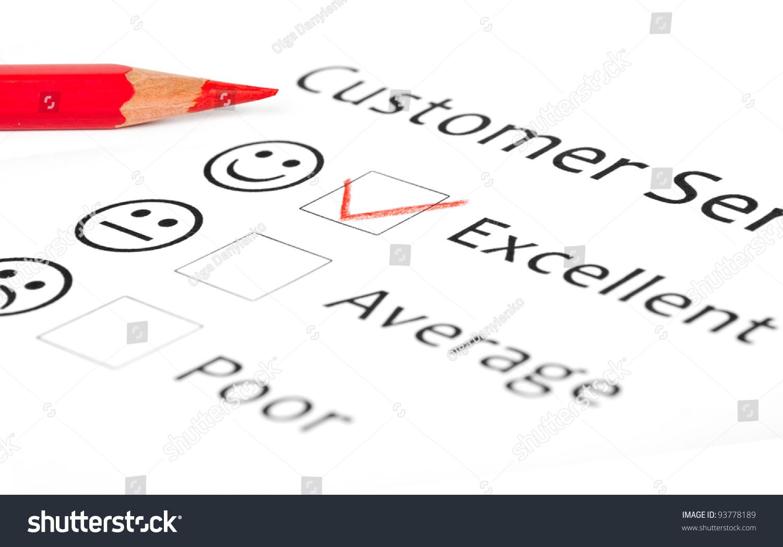 Customer Service Feedback Form Showing Excellent Photo – Service Feedback Form