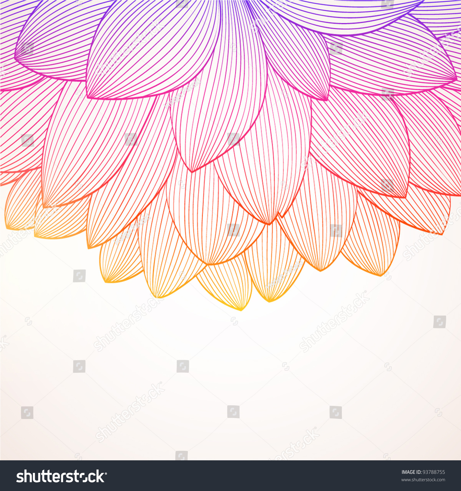 Abstract Flower Background With Decoration Elements For: Hand Drawing Abstract Floral Background Vector Stock