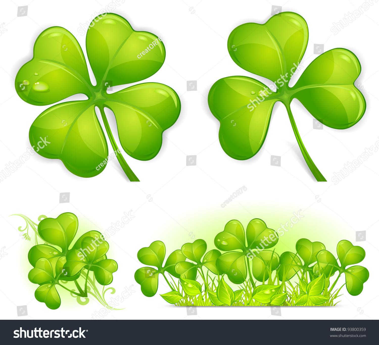 Four Leaf Clover Pattern Vector Illustration Stock Vector ...