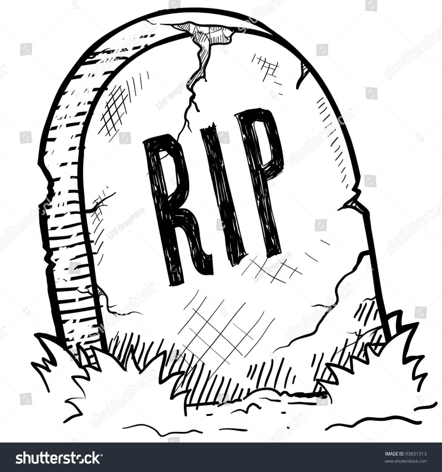 doodle style tombstone rip engraving sketch stock vector Animated Cartoon Tombstones Tombstone Outline